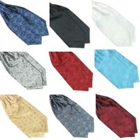 Men Ties Paisley Long Silk Scarves Cravat Ascot Ties Soft Handkerchief Gentlemen