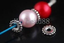 60pcs Loose Silver Plated Beads Jewelry Making Findings Crafts Spacer DIY