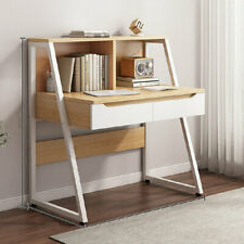 100cm Computer Dressing Table Study Desk Home Office Worksation + Metal Legs