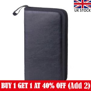 80 DVD CD Discs Album Storage Case Folder Wallet Carry Organizer Bag PU LeatherR