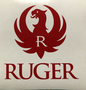 2x Ruger Decal Sticker Red Logo buy one get one