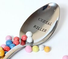 Cereal Killer Spoon, Personalized Spoon, Cereal Lover Spoon, Christmas gift