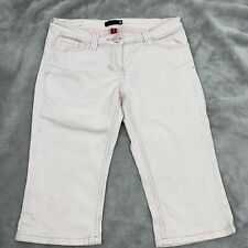 River Island Pink Jeans sz 12 Summer Ladies Cropped Trousers