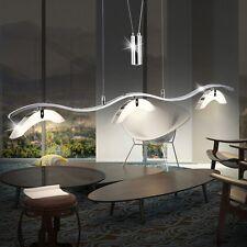 LED Decken Hänge Leuchte Wellen 3 x Strahler Spot Pendel Lampe Höhen-Verstellbar