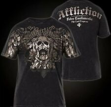"Affliction Men's small ""Fedor Emelianenko"" New FOIL Skull T Shirt New S Thé"