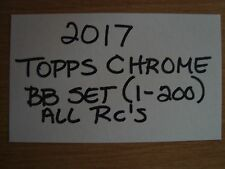 Lot of 3 ~ 2017 Topps Chrome Baseball Complete Sets ~ Judge ~ Bellinger