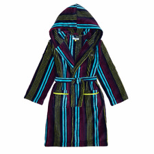 BNWT Boys TED BAKER Hooded Dressing / Night Gown Navy Multi Striped 7-8yrs GIFT