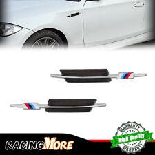 White/Amber For BMW 1 3 5 Series LED Side Marker Lights Black Lens