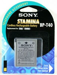Vintage Sony Stamina BP-T40 Cordless Rechargeable Battery 4V 500mAh Nonspillable