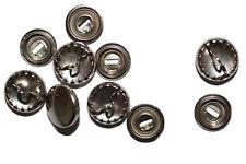 Überziehbare Knöpfe, 11mm - 10 Stück, Knopfrohlinge aus Metall