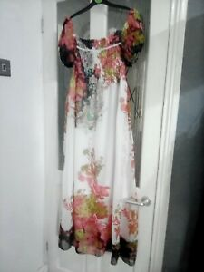 Ladies Lovely Floaty Summer Dress Size 14 Maxi