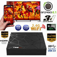 T95 MAX Smart 6K HD TV Box 4G+32G H6 Quad Core WiFi 3D Media Player Android 8.1