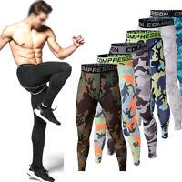 Men Sportswear Apparel Pants Gym Compression Base Layer Long Trousers Leggings