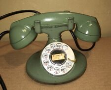 Rare Green Art Deco Bell System Western Electric Rotary Dial Telephone D1 F1