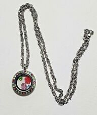 Mini Floating Charm Locket Round Crystals + Chain + Origami Owl Charm & More