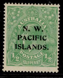 AUSTRALIA - New Guinea GV SG102, ½d green, M MINT.