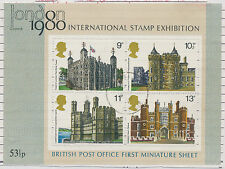 2304 1978 London 1980 Int. Stamp Exhibition - British Architect. VFU MS VARIETY