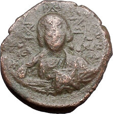 JESUS CHRIST Class A2 Anonymous Ancient 1025AD Byzantine Follis Coin i48181