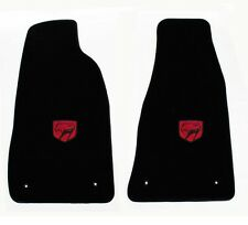 NEW! Black Floor Mats 1992-2002 Dodge Viper Red Embroidered Logo Snake Head Pair
