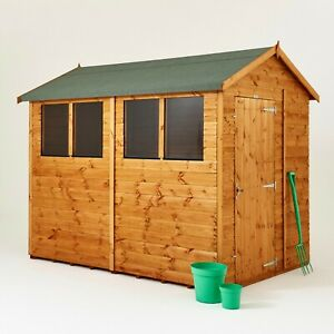 Power Apex Garden Shed | Power Sheds | Wood Shiplap T&G | Sizes 4x4 up to 10x6
