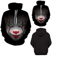 Women Men 3D Clown Printed Suicide Squad Joker Sweatshirt Hoodie Hooded Pullover
