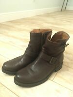 NEW Frye Womens Tyler Engineer Brown Leather Boots Shoes 3474509 size mm 8.5 M*