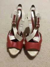 Leona Edminson Platform Peep Toe Shoes Sz 39