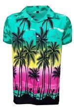 Mens Hawaiian Shirt Stag Beach Hawaii Aloha Party Summer Holiday Fancy S -xxl D1 DG Palm M