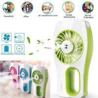 Portable Hand-held Cooling Fan Humidifier Spray Air Cooler USB Rechargeable 2019