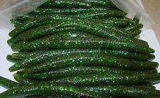 """4"""" Stick Senko Style Watermelon Candy 100 count bag Bulk Bass Worm"""
