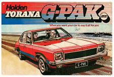 TORANA G-PAK CAR TIN SIGN 20 x 30 cm