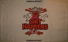 "3'x5' ""Stuff"" Happens Funny Flag Duck Outdoor Huge Accident Ooops Mistake 3x5"