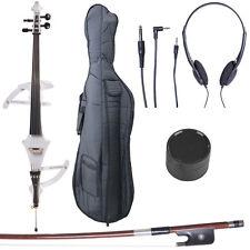 4/4 Electric Cello Full Size Ebony Style 4 ~Pearl White