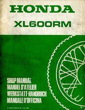 Honda XL600RM 1986 Shop Manual