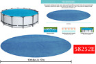 13ft.8in PE Pool Cover for 15ft Frame Round Above Ground Pools 58252E Bestway