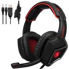 SADES R9 PC Gaming Headsets 3.5mm Wired Earphone Over Ear Game Headphone N2U6