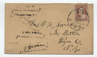 c1860 Lyons NY #26 cover with  private received marking [y4935]