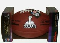 Super Bowl 47 XLVII Wilson Official NFL Authentic Game Football 49ERS vs RAVENS