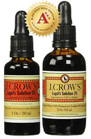 J.CROW'S® Lugol's Solution of Iodine 5% 1 oz Bottle + 2% 2 oz Bottle