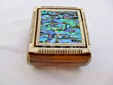 """Egyptian Inlaid Mother of Pearl Paua Jewelry Box 3x3"""" Exceptional # 408"""