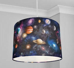 New kids room solar system planets star space lamp shade pendant shade
