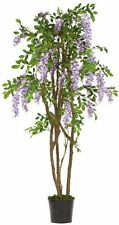 Nearly Natural 5015-PP Wisteria Silk Tree- 5-Feet- Purple