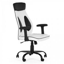 Chaise de bureau siège de bureau fauteuil hauteur réglable similicuir rembourrés