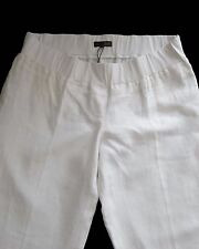 New Womens White Cream Linen NEXT Maternity Trousers Size 8 Long RRP £32