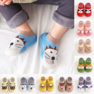Winter Warm Kids Baby Girl Boys Toddler Anti-slip Slippers Socks Cotton Shoes