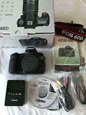 Canon EOS 60D 18.0MP Digital SLR Camera - Black (Body Only) - Shutter Count: 115