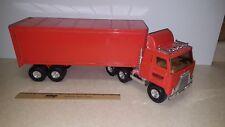 Toy ERTL Transtar Schneider Orange Semi Truck and Trailer with box