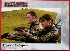BATTLESTAR GALACTICA - Premiere Edition - Card #30 - Caprica Refugees