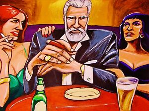 THE MOST INTERESTING MAN IN THE WORLD PRINT poster cigar beer smoking wine sexy