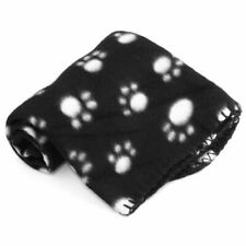 Soft Dog Cat Blanket For Pet Black Cushion Mat Bed Warm Soft 70x60cm